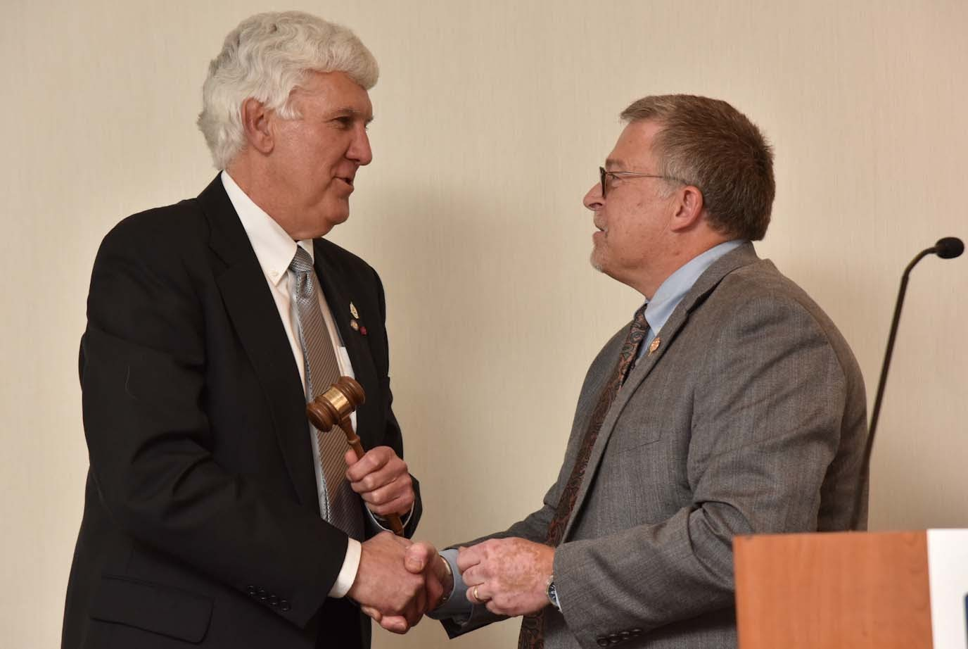John Fales, Nick Rogers passing of gavel